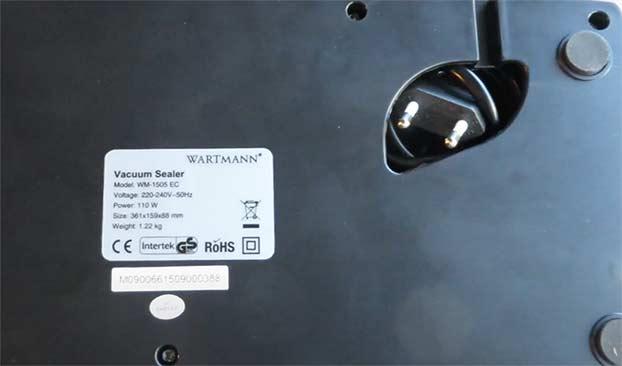 Wartmann WM-1505 EC kabel