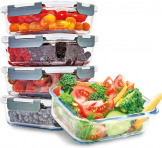 KitchenBrothers Meal Prep Glazen Bakjes 5 stuks