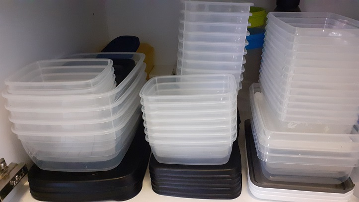 Plastic vershoudbakjes met deksel